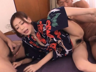 Lustful asian takes large sex bagatelle
