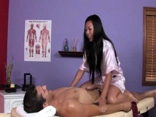 Morose Tia gives hot massage
