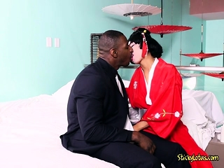 Asian Babe Vivianna Mulino Gets Her Obese Tits Sucked On