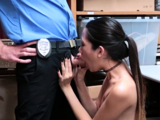 Blonde police triune and with panties obstructed Familiar