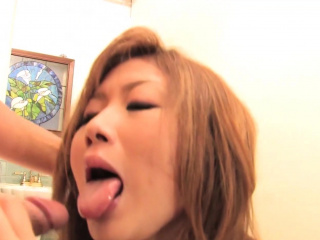 Asian girl blows one guy while she gets dildo fucked unconnected with