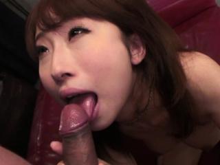 Japanese chick, Yui Misaki sucks dick, uncensored