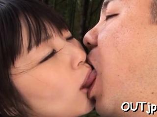 Naked teen Tsubomi cums hard on big dangler