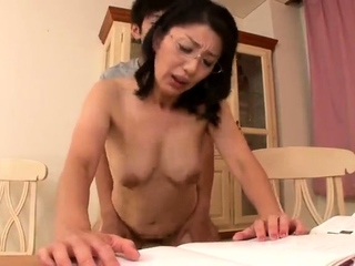 Grown up Japanese Rina Tachikawa exposing hairy cunt